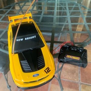New Bright BOSS 302S RC Yellow Car. 49MHz.